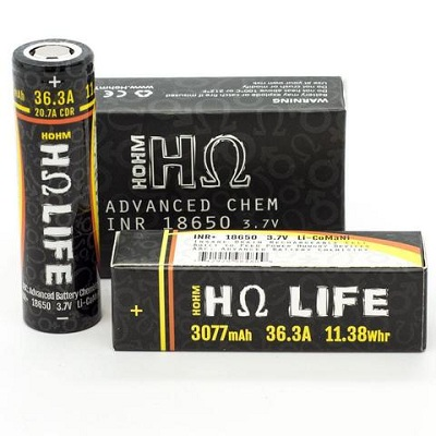 Hohm Life 18650 Battery 2pc Pack