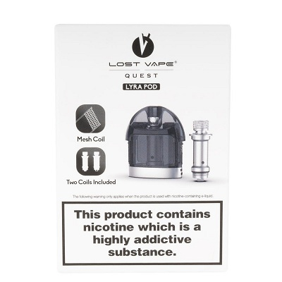 Lost Vape LYRA Replacement POD w - 2 Coils